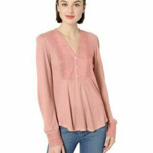 NEW!!!Lucky Brand Women's Lace Mix Drop Needle Top
